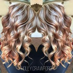 50 Amazing Hair Color Trends Taking The World By Storm - Fall Hair Colors Hair Color And Cut, Cool Hair Color, Amazing Hair Color, Awesome Hair, Hair Color Balayage, Hair Highlights, Haircolor, Blonde With Red Highlights, Red Blonde
