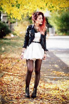 Jacket- Nasty Gal Dress- Savous Shoes - Miista Tights- Asos Necklace- Similar