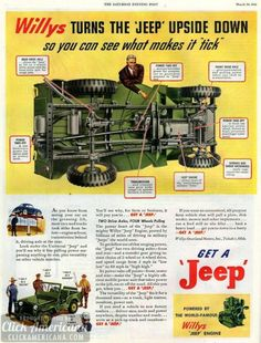 Willys Jeep - Dippsy Doodle Auto Page - Jeep Jk, Jeep Truck, Willys Mb, Us Cars, 4x4 Off Road, Dodge, Vintage Jeep, Vintage Ads, Vintage Posters