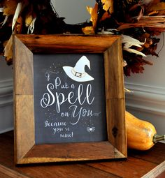 Witch Chalk Art FREE Printables, Chalkboard with quotes, witch sayings, white shabby free printable witch, I cast a spell on you saying, lyrics, witchy poo,