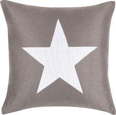 Big Star Kissen in grau-weiß, 50 x 50 cm #moltex #kissen Erhältlich: http://www.mein-boxspringbett.de/bettdecken-und-kissen/moltex.html