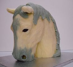 white horse cake 2 by Love to Cake, via Flickr