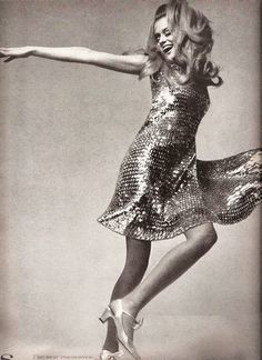 Lauren Hutton in a Sequined Dancing Dress - Real '60s Glamour - Photos