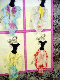 vintage handkerchiefs.