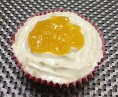 Mango Cupcake with Whipped Cream & Mango Jam