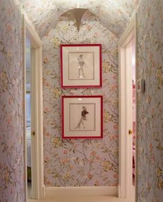 love this wallpaper A Ruthie Sommers Home for Sale- The Glam Pad