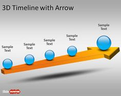3D Timeline Template for PowerPoint with Arrow