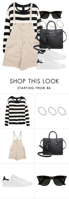 """Style #11589"" by vany-alvarado ❤ liked on Polyvore featuring H&M, ASOS, Yves Saint Laurent, adidas Originals and Ray-Ban"