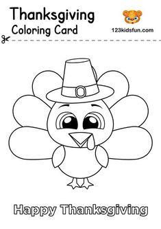 Free Thanksgiving Printables | 123 Kids Fun Apps