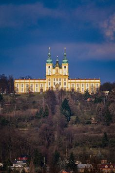 Holy hill with Basilica of the Visitation Virgin Mary, Olomouc in Czechia. By Facebook @univerzita.palackeho