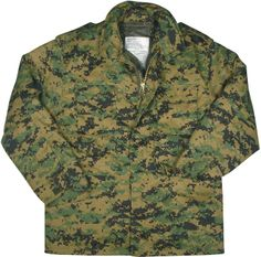 Digital Woodland Camouflage Military M-65 Field Jacket | 8590 | $66.99
