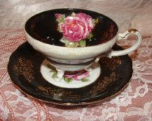 Royal Halsey Very Fine China Tea Cup & Saucer