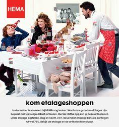 Kom ook etalage shoppen bij HEMA en maak kans op kortingen tot 75%! Met de HEMA app kun je 24/7 artikelen zo uit de etalage bestellen.
