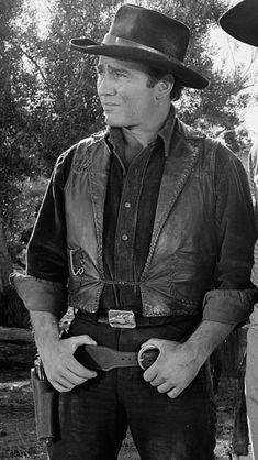 , Born: 18 April - Died: 6 April 2020 was an American actor best known for his success in playing the title role in the weekly Western television series The Virginian, broadcast on NBC from Doug Mcclure, James Drury, Hot Cowboys, Tv Show Music, Cowboy Horse, The Virginian, Tv Westerns, Western Movies, All Smiles