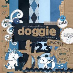 Free Digital Scrapbook Kit: Doggie in the Window   DIGITAL SCRAPBOOKING FREE SITE
