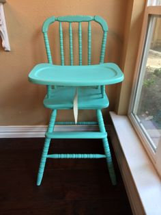 This is a beautiful hand painted Jenny Lind Wooden High Chair It