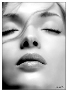 Russian Model Ksenia Patroucheva born in 1980 does work for Chanel, Guerlain, Helena Rubinstein, 'Color Clone' and L'Impératrice