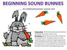 This file contains 30 bunnies, one for each letter in the alphabet and the digraphs, ch, sh, wh, th.  Also included are over 100 picture card carro...