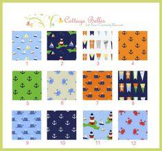 Custom Crib Sheet / Toddler Bed Sheet   All Hands by CottageBelles, $40.00