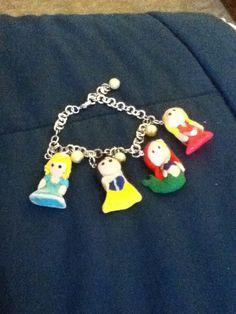 Disney Princess Polymer Clay Bracelet