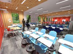 University Classroom Interior Design
