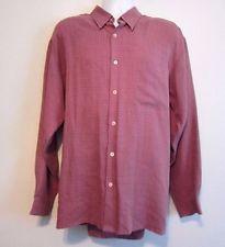 8ca936ef71dd Bugatchi Uomo Red Brown Plaid Soft Button Front Long Sleeve Shirt XL Long  Sleeve Shirts