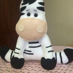 Zebra em feltro/ Elaine Crepaldi Atelier!