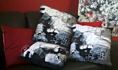 Beautiful Music: Art Cushion | Painting Design | Handmade $65 http://coloursofhope.com.au/store?category=cushion