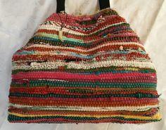 Τσάντα χειροποίητη bohο απο κουρελού Crochet Top, Bohemian Rug, Bags, Women, Decor, Fashion, Handbags, Moda, Decoration