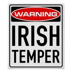 I have an Irish AND Scottish temper! Irish Eyes Are Smiling, Funny Google Searches, Irish Quotes, Irish Sayings, Irish Culture, Irish Pride, Funny Posters, Irish Girls, Irish Blessing