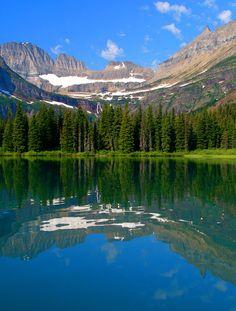 Reflection of Eden by Paul Garrett, via 500px; Grinnell Glacier from Lake Josephine, Glacier National Park, Montana