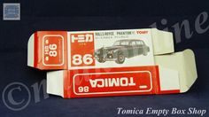 TOMICA 086B ROLLS-ROYCE PHANTOM | 1/78 | ORIGINAL BOX ONLY | 1988 -1993 JAPAN (B