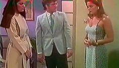 Fernando Carrillo como Carlos Alfredo Ruiz Aponte entre María Clara (Gemela Buena) y Maria Begoñia Martínez (Gemela Villana) interpretadas por Hilda Abrahamz (Telenovela Abigaíl)