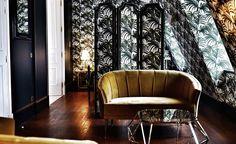 Velvet Goldmine: Maximalist Glamour at Hôtel Providence in Paris - Remodelista Design Hotel, Restaurant Design, Design Design, Design Trends, 2017 Design, News Design, Design Ideas, Hotel Providence Paris, Velvet Goldmine