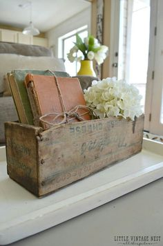 Home Decoration Ideas Interior Design How to Decorate with Vintage DecorOld Books and Vintage Cheesebox.Home Decoration Ideas Interior Design How to Decorate with Vintage DecorOld Books and Vintage Cheesebox Retro Home Decor, Cheap Home Decor, Diy Home Decor, Vintage Style Decor, Vintage French Decor, Vintage Window Decor, French Rustic Decor, Swedish Decor, Vintage Vignettes