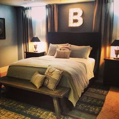 Basement bedroom for a 15 year old boy:)