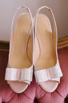 Cute Pale Pink Kate Spade Bridal Shoes Photography by Claire Morgan