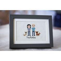 CUSTOM CROSS STITCH PEOPLE PORTRAIT | cross-stitch picture, family art | UncommonGoods