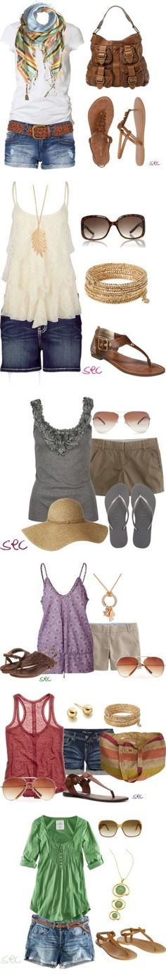 Summer Outfits- love the second & sixth! It's about more than golfing,  boating,  and beaches;  it's about a lifestyle  KW  http://pamelakemper.com/area-fun-blog.html?m