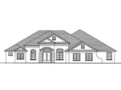 Floor Plans AFLFPW02365 - 1 Story Mediterranean Home with 4 Bedrooms, 3 Bathrooms and 3,835 total Square Feet  All rooms including media.