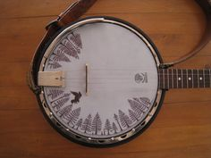 Banjo Head Painting, Anna Louise Mould