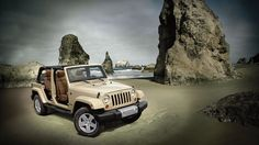 Jeep® Wrangler Unlimited Sahara shown in Sahara Tan with doors removed. THIS IS IT! The colors I want