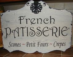 FRENCH Sign 17X24 French Patisserie Bakery Vintage by familyattic
