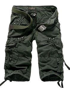 Uomo Capri Bermuda Pantaloni Uomo Shorts Chino Pants Cargo Bermuda Pantaloni Corti h-050