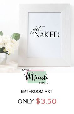 A funny bathroom art print that can add some fun and humor to your bathroom wall decor. Decorate with printable funny bathroom signs! Available @ SmallMiraclePrints for only $3.50 with it's opening sale for a limited time! — Visit our shop and you would be able to view even more thrifted home decor! #BathroomArtPrint #BathroomPrintables