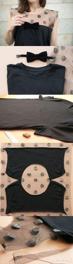 T-shirt, transformation et customisation.