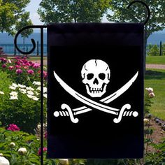 Jolly Roger Skull and Crossbones New Small by SabellasEmporium, $12.99