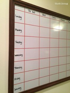 How to Make a Big DIY Whiteboard to Get Organized for the New Year!