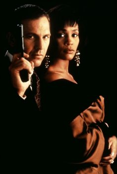 Kevin Costner and Whitney Houston