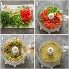 Haitian epis – That Girl Cooks Healthy Puree the vegetables in a food processor to make Epis Healthy Meals To Cook, Healthy Cooking, Healthy Recipes, Healthy Food, Healthy Breakfasts, Eating Healthy, Vegan Food, Cooking Tips, Yummy Food